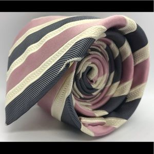 DONALD TRUMP White Pink Blue Striped President Tie